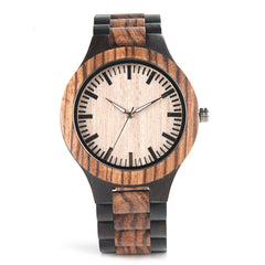 The Two Tone Men's Natural Wood Watch Natural Dial - DOS TONOS