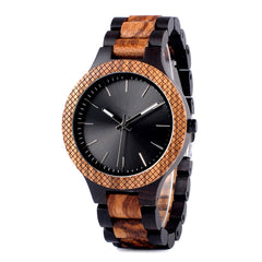 The Metropolitan Men's Wood Watch Black Dial - EL METRO