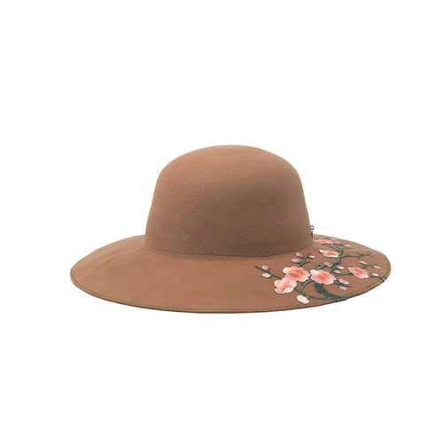 OMBRA BLOSSOM WIDE BRIM WOOL WOMENS HAT