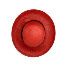 Pamela Red Genuine Panama Hat