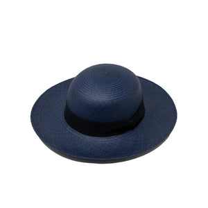 Pamela Blue Genuine Panama Hat