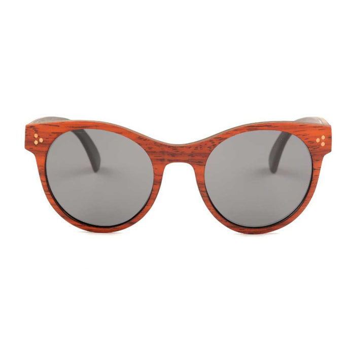 The Oval Red Wood Sunglasses - EL OVALO ROJO