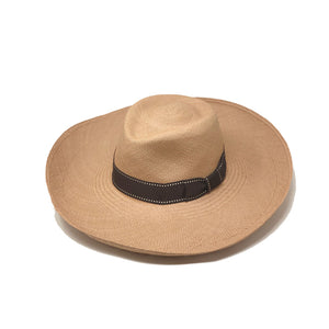 Summer Lunga Plenero Sand Genuine Panama Hat | Galpon.Co