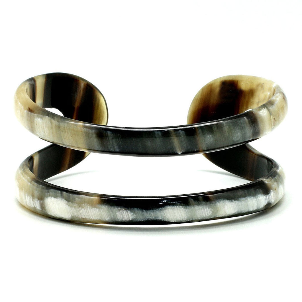 Lightweight Dark Horn Simple Cutout Cuff | Pulsera de Cuerno
