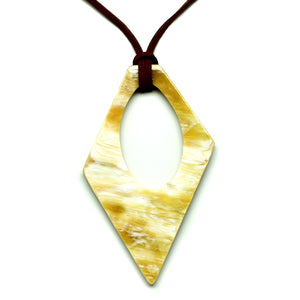 Lightweight Light Triangle Polished Horn Pendant | Colgante de Cuerno