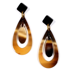 Polished Horn Large Post Drop Earrings | Pantallas de Cuerno Grandes