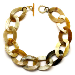Caramel Color Horn Links Short Necklace | Collar de Cuerno