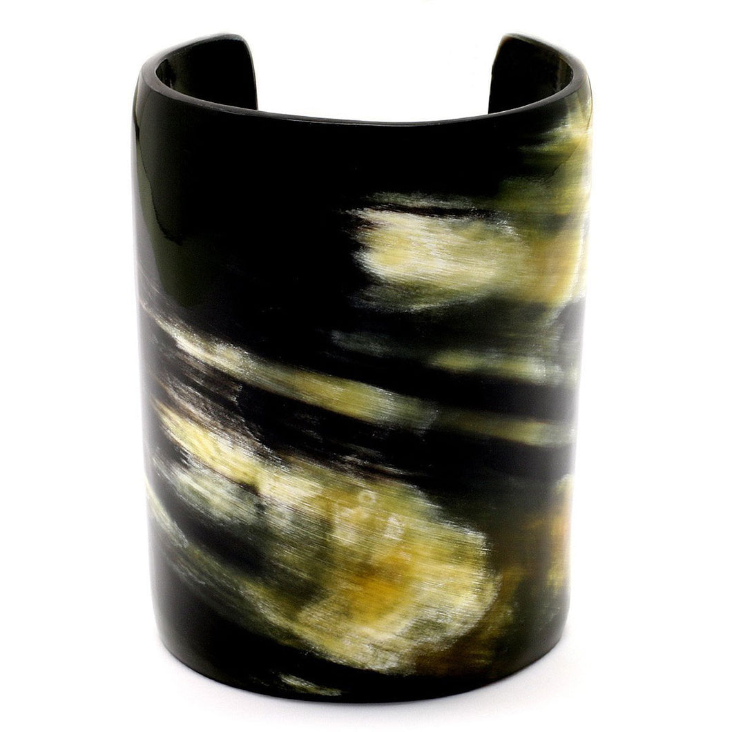 Lightweight Dark Color Horn Wide Cuff | Pulsera de Cuerno Ancha