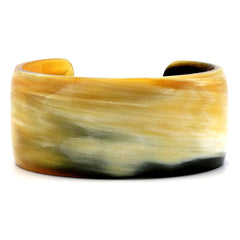 Lightweight Polished Horn Simple Cuff | Pulsera de Cuerno Sencilla