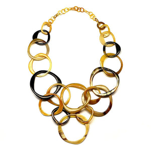 Lightweight Light Color Polished Horn Layered Necklace | Collar de Cuerno Escalonado