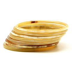 Lightweight Thin Polished Horn Bangle | Pulsera Delgada de Cuerno