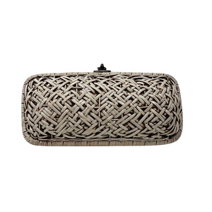 Bali Envelope Criss Cross Rattan Purse with lining