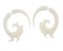 Bone Split Fake Plug Earrings