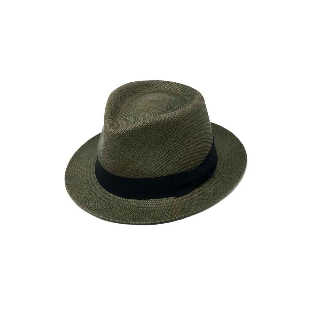 Tradicional Short Brim Green Genuine Panama Hat