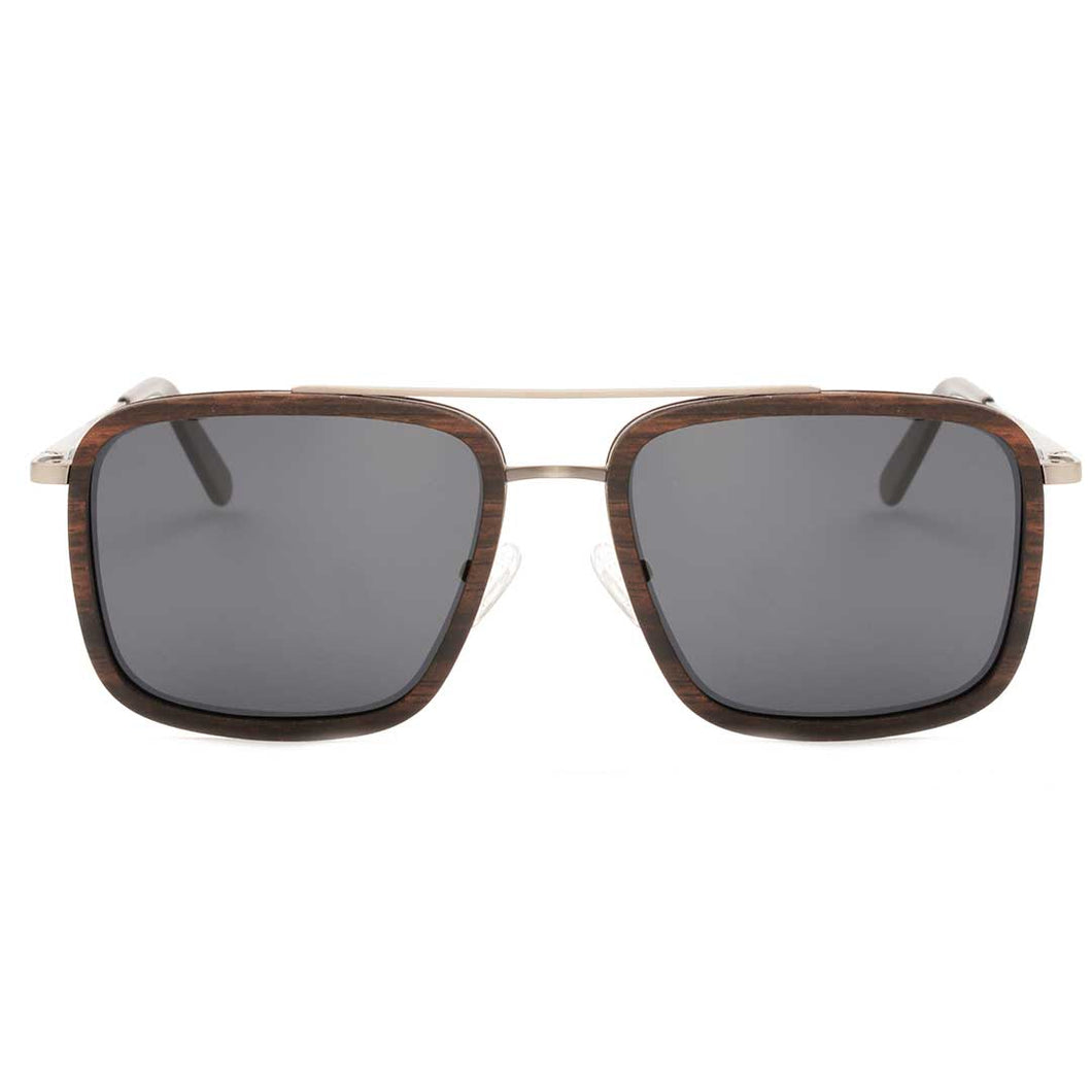 The Metal Square Wood Sunglasses - EL CUADRO METAL