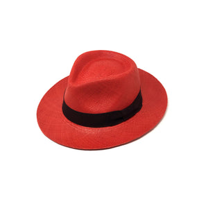 Tradicional Red Genuine Panama Hat