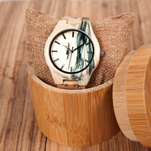 The Pearl Smoke Natural Wood Watch - LA PERLA