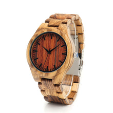 The Zebra Wood Watch Red - LA ZEBRA