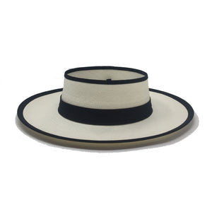 Crown Less White Genuine Panama Hat