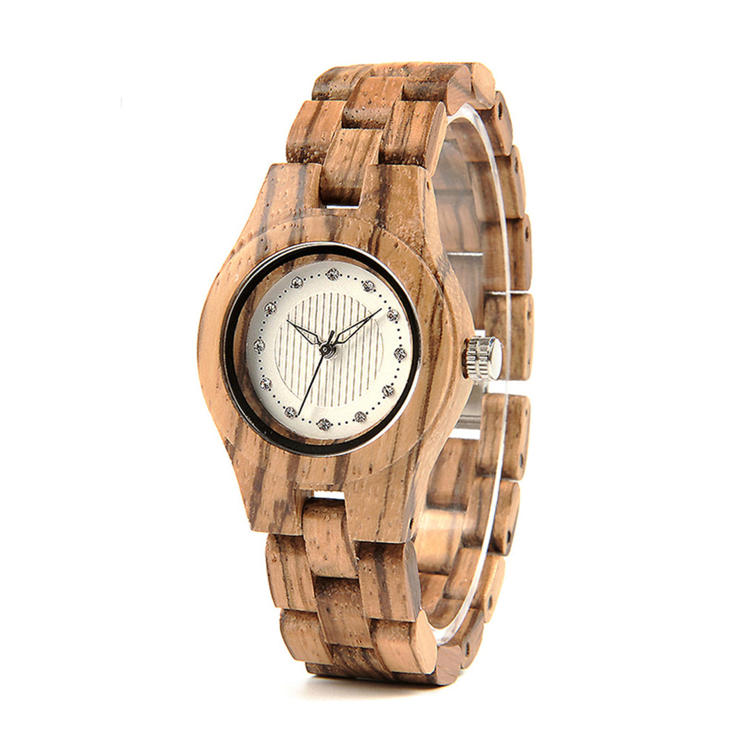 The Zebra Women's Wood Watch - LA ZEBRA
