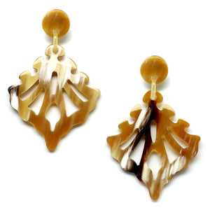 Lightweight Horn Butterfly Cutout Earrings | Pantallas Livianas Cuerno