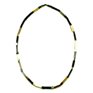 Lightweight Flat Horn Beads Necklace | Collar de Cuerno