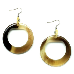 Lightweight Horn Organic Circle Earrings | Pantallas de Cuerno