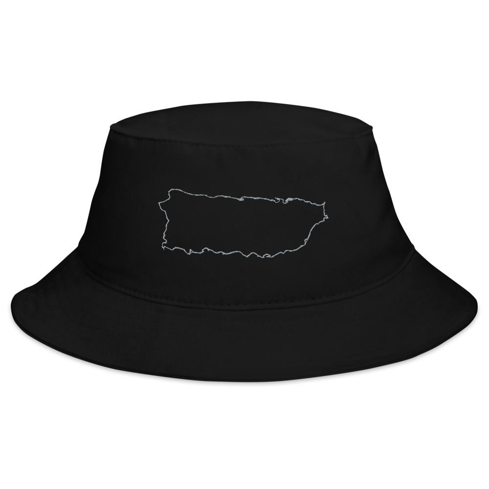 Puerto Rico Map Bucket Hat