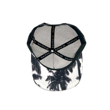 Puerto Rico Map Palms Black & White Trucker Snapback Cap