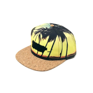 Puerto Rico Map Palms Sunset Snapback Cap