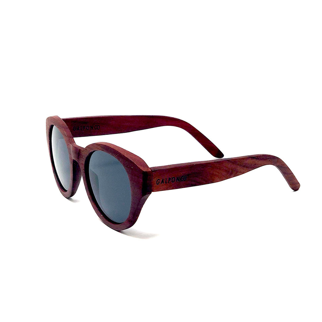 The Vintage Red Wood Sunglasses - LA RETRO