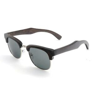 The Brow-line Dark Wood and Metal Sunglasses - LAS CEJAS