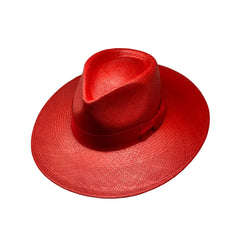 Sauvage Rouge Genuine Panama Hat