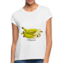 Platano Women's Relaxed Fit T-Shirt - White