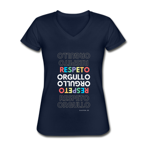 Orgullo Respeto Sexy V-Neck T-Shirt - navy