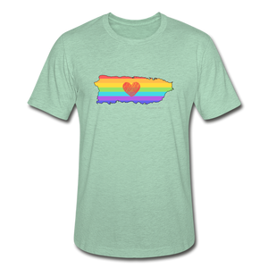 Love is Amor Slim Fit T-Shirt - heather prism mint