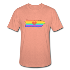 Love is Amor Slim Fit T-Shirt - heather prism sunset