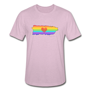 Love is Amor Slim Fit T-Shirt - heather prism lilac