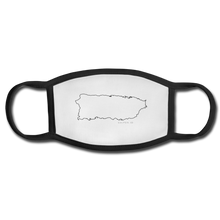 Puerto Rico Map Face Mask - white/black