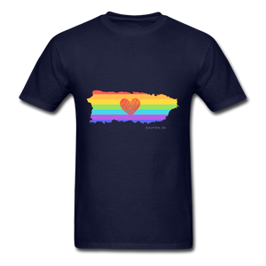 Love is Amor PR Map Classic Fit T-Shirt - navy
