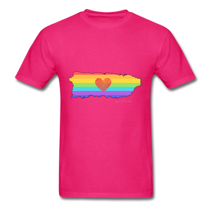 Love is Amor PR Map Classic Fit T-Shirt - fuchsia