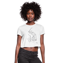 Safra y Machete - Women's Cropped Puerto Rican T-Shirt - white