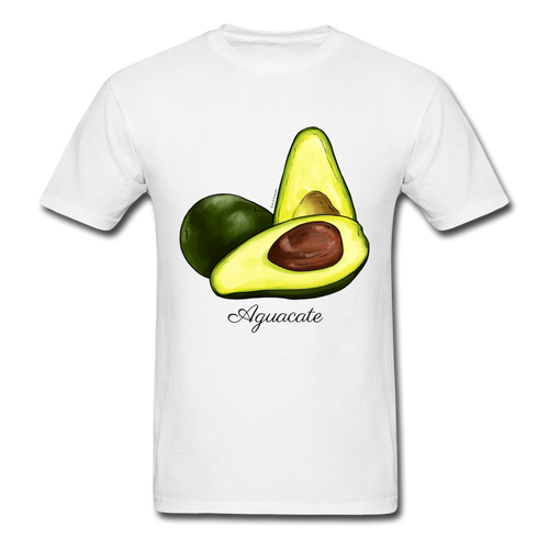 Aguacate Classic Men's T-Shirt - white Exclusive collection from El Galpón. Affordable fashion shirts for men and woman inspired in Puerto Rico's culture. We ship to all US states & Puerto Rico. Shop Online Now !