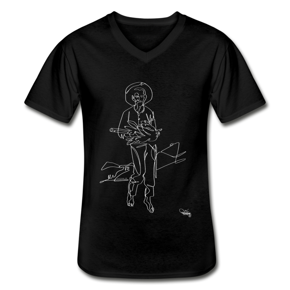 Men's V-Neck T-Shirt - black