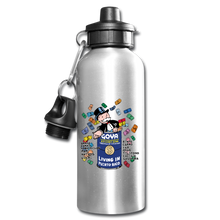 Living in Puerto Rico Water Bottle - silver