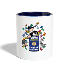 Living in Puerto Rico Contrast Coffee Mug - white/cobalt blue