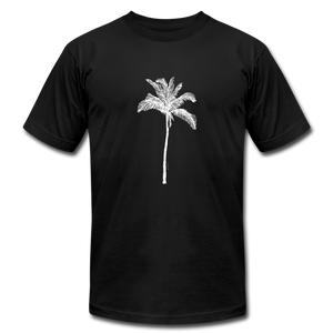 PALM Stretched White Unisex Jersey T-Shirt - black