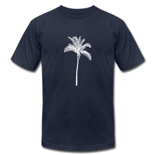 PALM Stretched White Unisex Jersey T-Shirt - navy