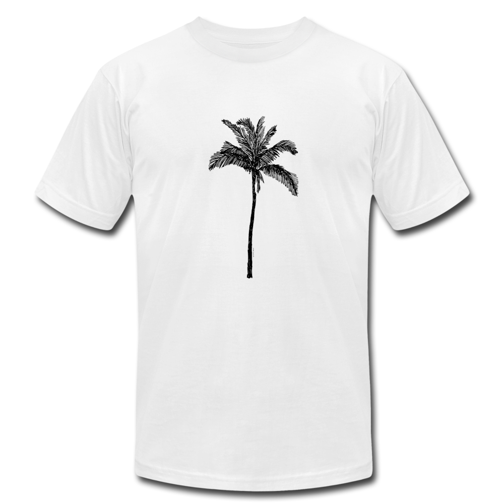 PALM Stretched Unisex Jersey T-Shirt - white