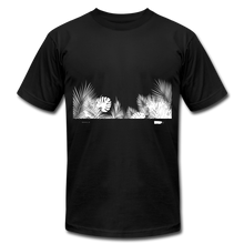 Leaves WIDE WHT Unisex Jersey T-Shirt - black